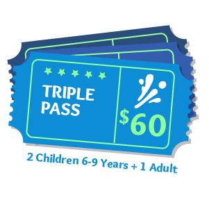 Triple Pass Aqua Fun Park Water Fun Park for kids & adults